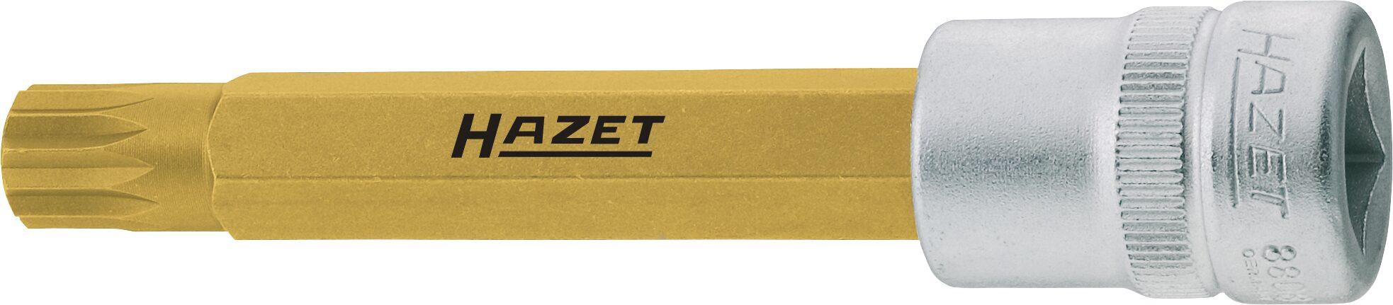 HAZET Schraubendreher-Steckschlüsseleinsatz 8808LG-8 ∙ Vierkant hohl 10 mm (3/8 Zoll) ∙ Innen Vielzahn Profil XZN ∙ M8