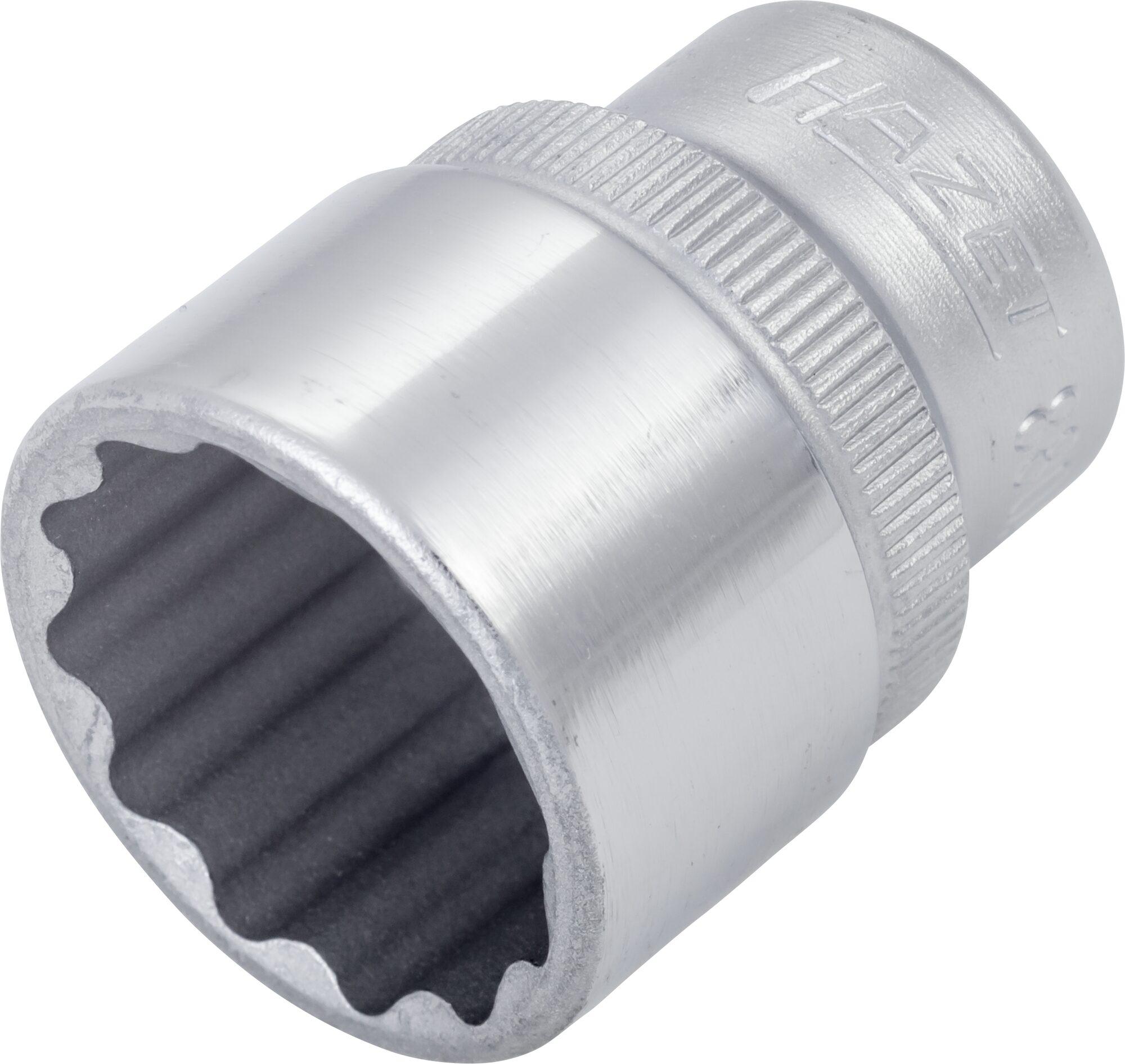 HAZET Steckschlüsseleinsatz ∙ Doppelsechskant 880AZ-3/4 ∙ Vierkant hohl 10 mm (3/8 Zoll) ∙ 3⁄4 ″