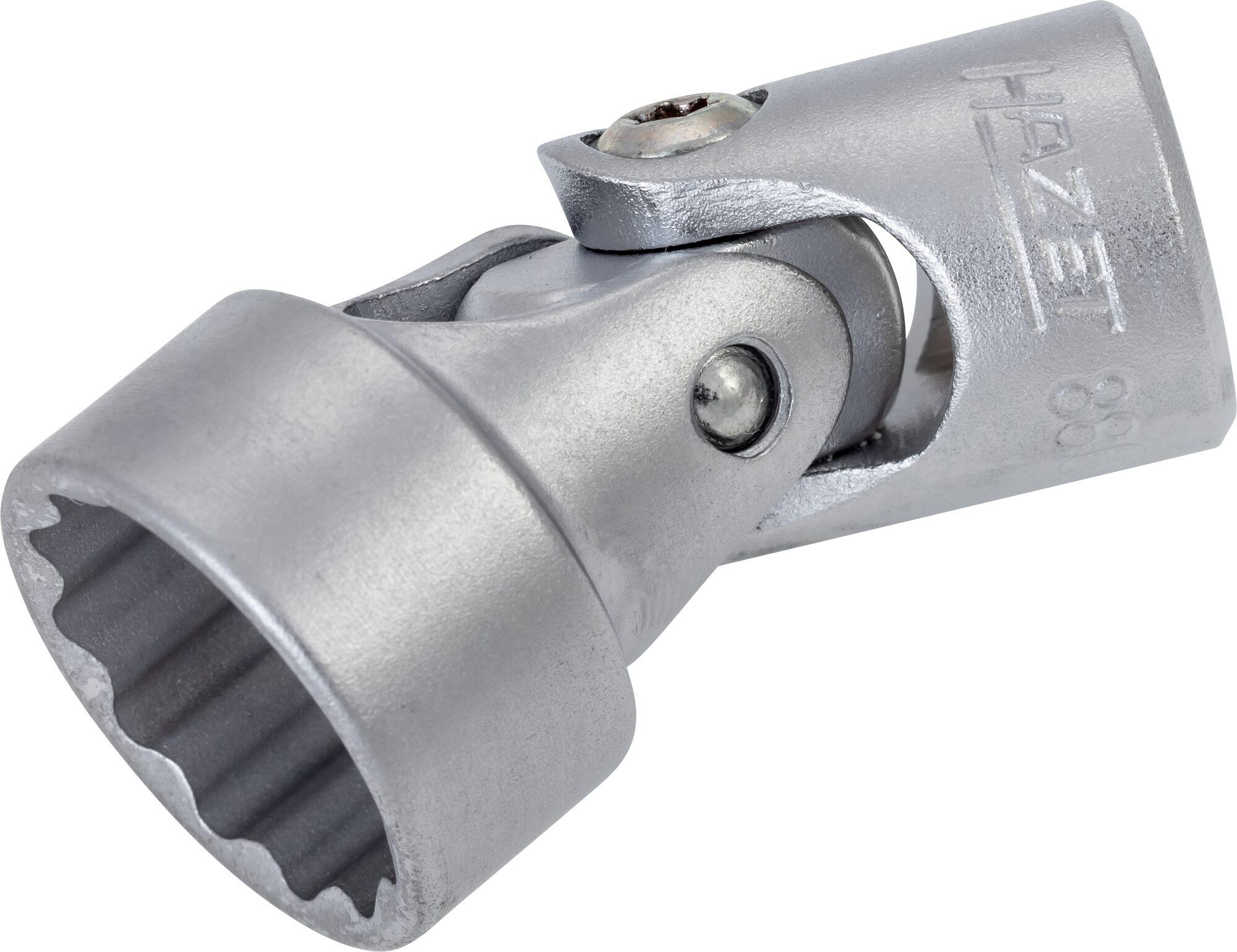HAZET Gelenk Steckschlüsseleinsatz ∙ Doppelsechskant 880G-Z18 ∙ Vierkant hohl 10 mm (3/8 Zoll) ∙ 18 mm