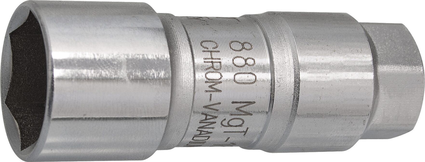 HAZET Zündkerzen Steckschlüsseleinsatz 880MGT-18 ∙ Vierkant hohl 10 mm (3/8 Zoll) ∙ Außen-Sechskant Profil ∙ 18 mm