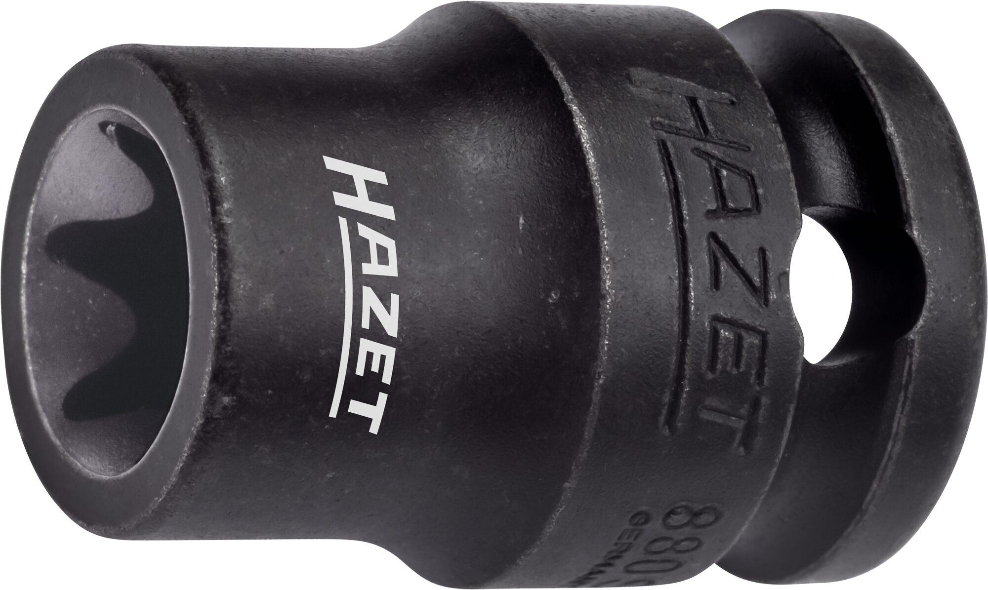 HAZET Schlag- ∙ Maschinenschrauber Steckschlüsseleinsatz ∙ TORX® 880S-E14 ∙ Vierkant hohl 10 mm (3/8 Zoll) ∙ E14