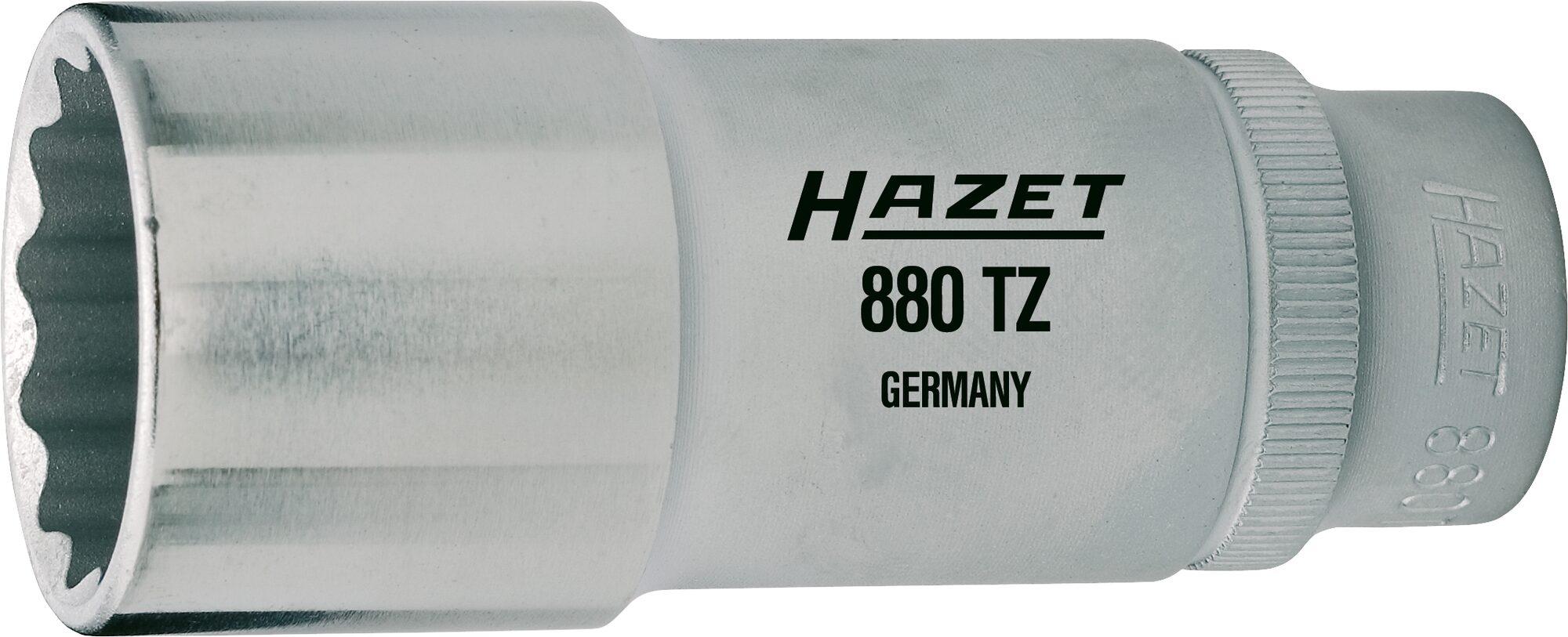 HAZET Steckschlüsseleinsatz ∙ Doppelsechskant 880TZ-17 ∙ Vierkant hohl 10 mm (3/8 Zoll) ∙ 17 mm