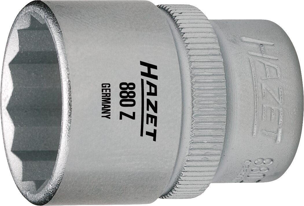 HAZET Steckschlüsseleinsatz ∙ Doppelsechskant 880Z-19 ∙ Vierkant hohl 10 mm (3/8 Zoll) ∙ 19 mm