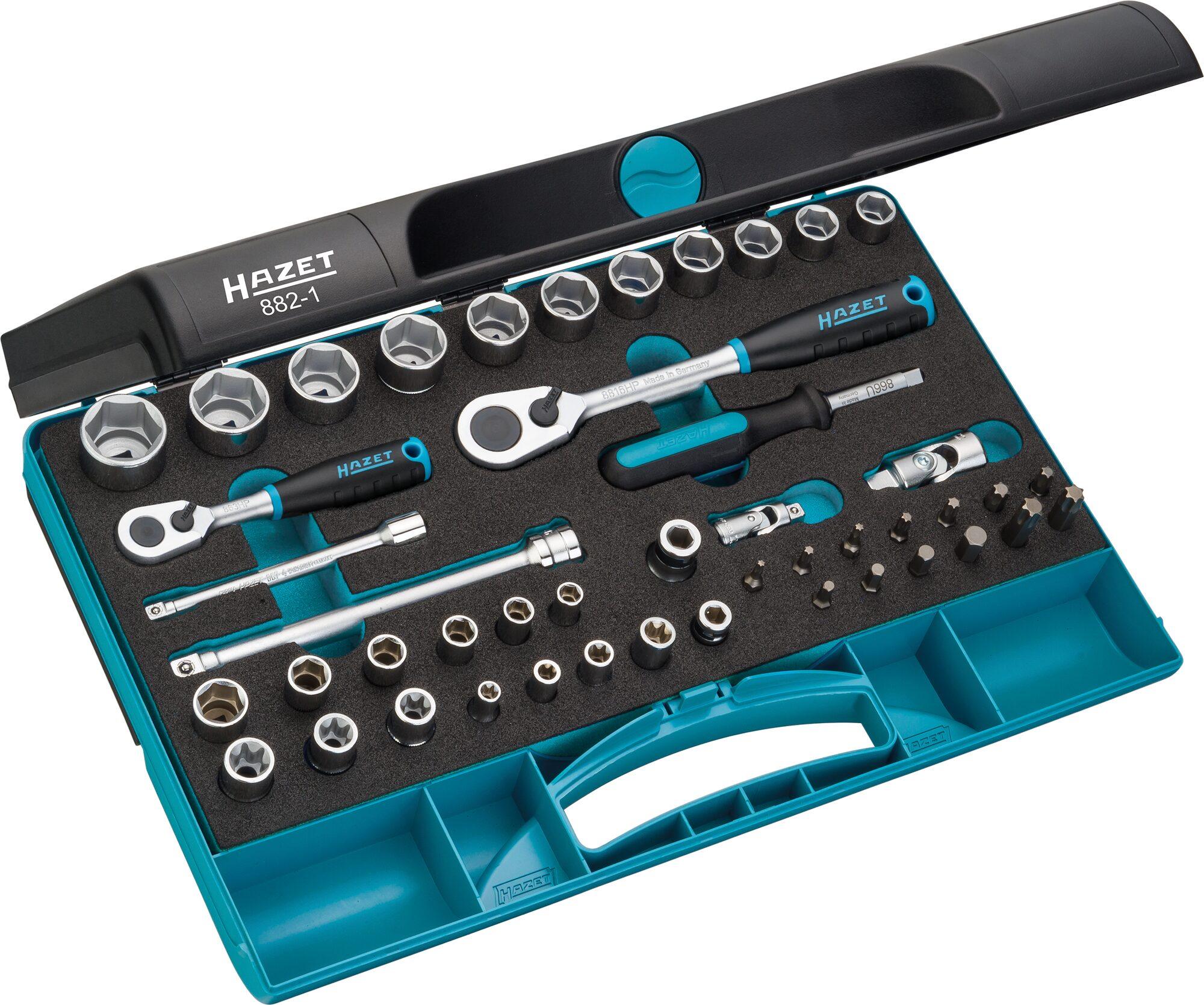 HAZET Steckschlüssel Satz 882-1 ∙ Anzahl Werkzeuge: 46