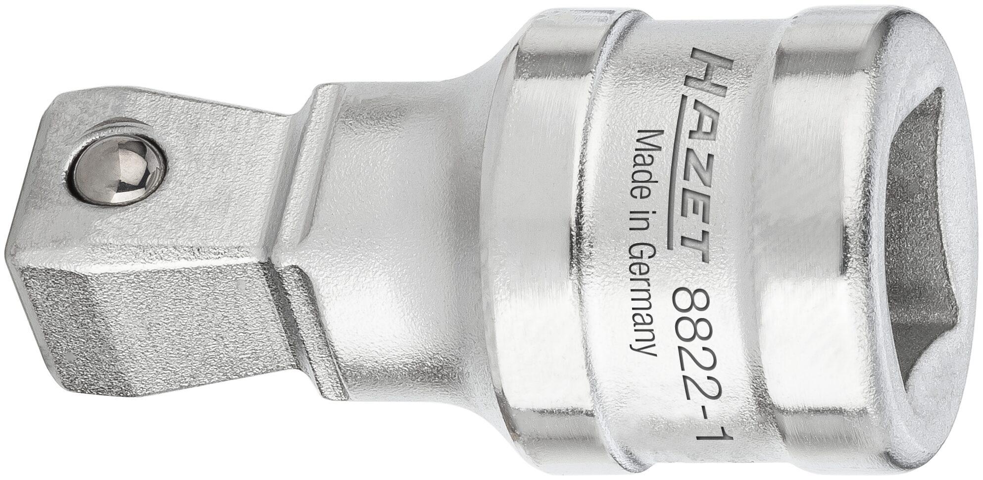 HAZET Verlängerung ∙ schwenkbar 8822-1 ∙ Vierkant hohl 10 mm (3/8 Zoll) ∙ Vierkant massiv 10 mm (3/8 Zoll)