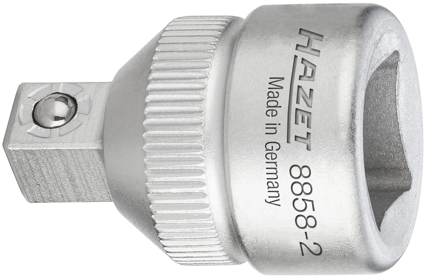 HAZET Reduzierstück 8858-2 ∙ Vierkant hohl 10 mm (3/8 Zoll) ∙ Vierkant massiv 6,3 mm (1/4 Zoll)