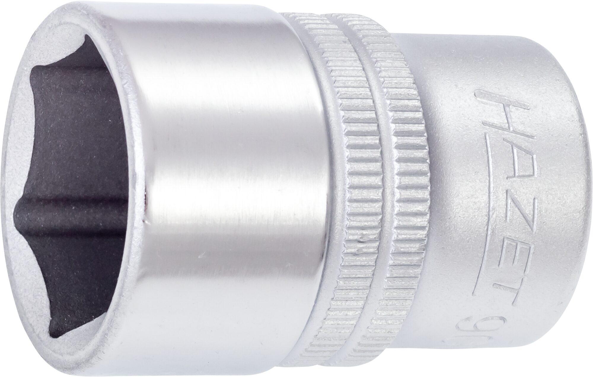 HAZET Steckschlüsseleinsatz ∙ Sechskant 900-8 ∙ Vierkant hohl 12,5 mm (1/2 Zoll) ∙ Außen-Sechskant-Tractionsprofil