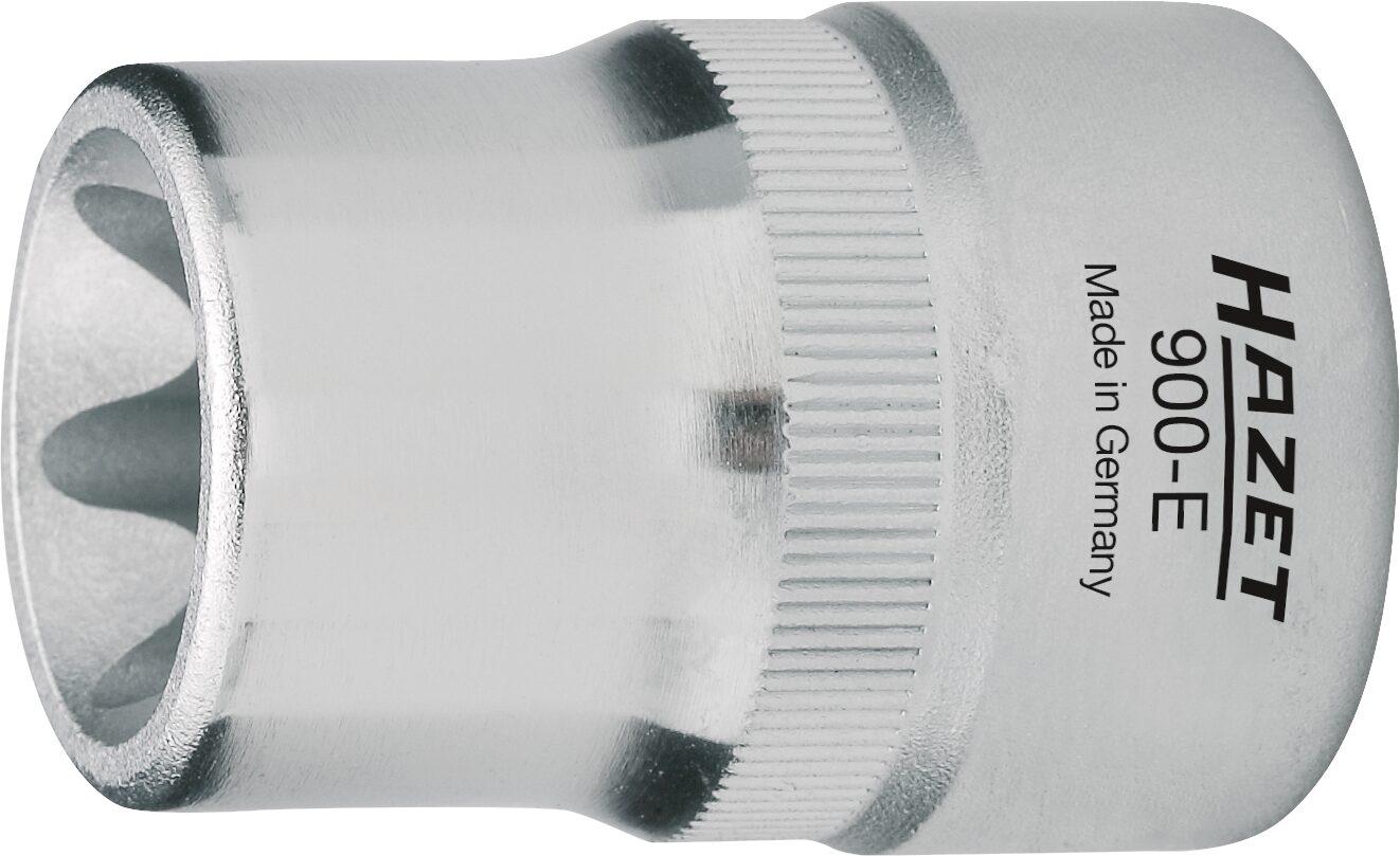 HAZET Steckschlüsseleinsatz TORX® 900-E12 ∙ Vierkant hohl 12,5 mm (1/2 Zoll) ∙ Außen TORX® Profil ∙ E12