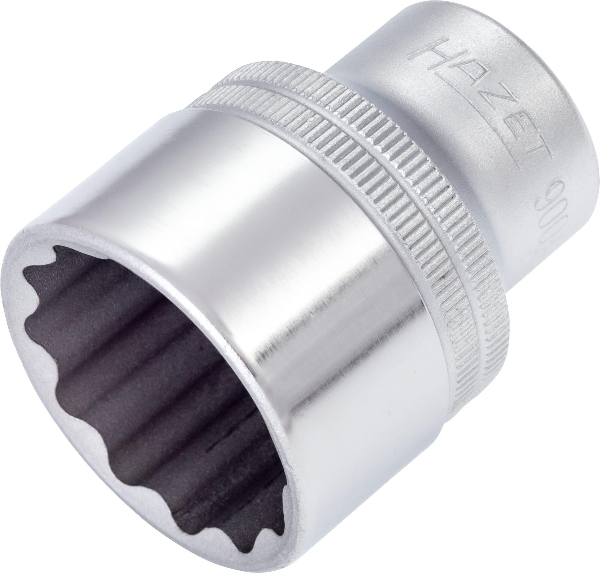 HAZET Steckschlüsseleinsatz ∙ Doppelsechskant 900AZ-1.1/8 ∙ Vierkant hohl 12,5 mm (1/2 Zoll) ∙ 1.1⁄8 ″