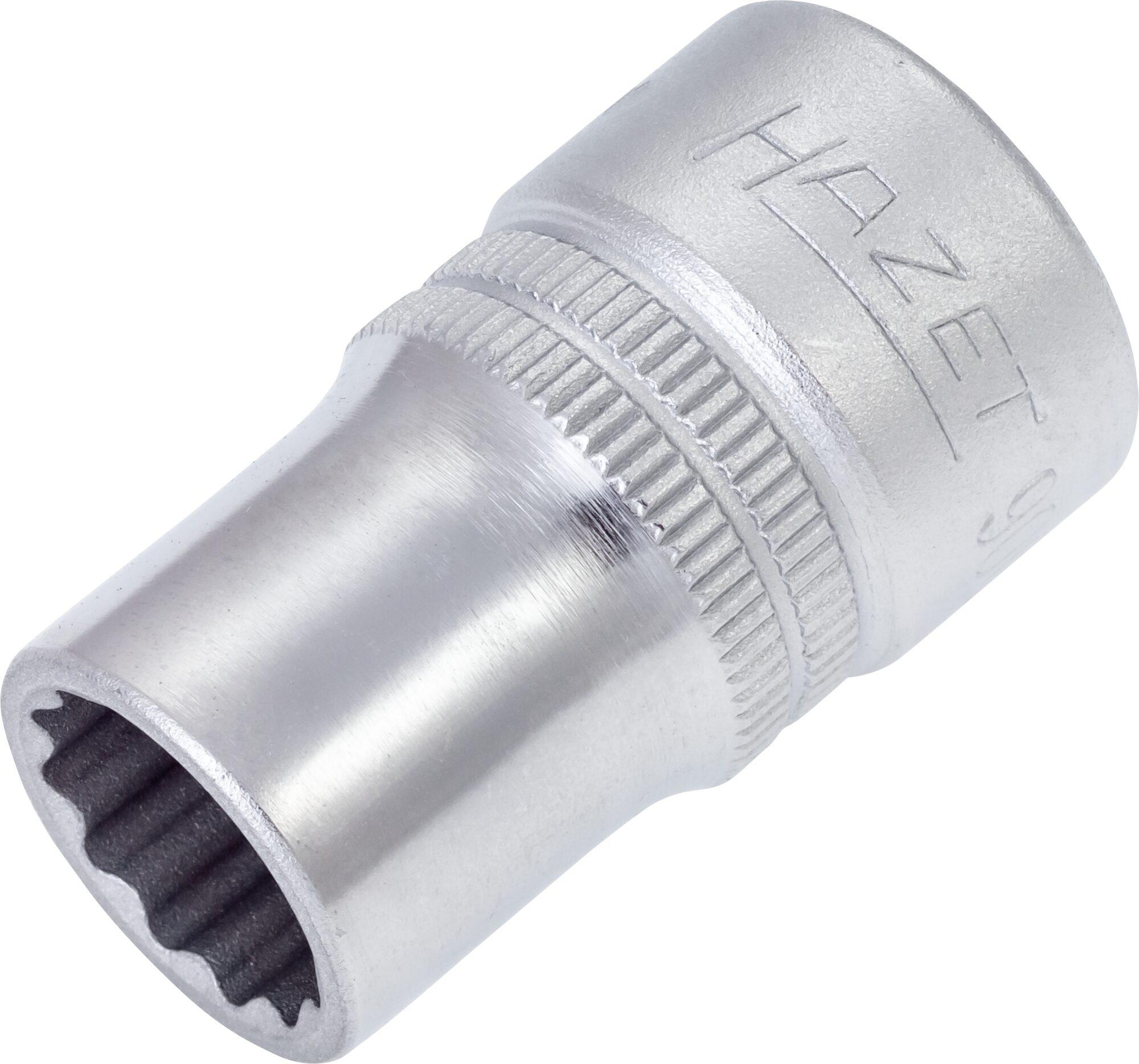 HAZET Steckschlüsseleinsatz ∙ Doppelsechskant 900AZ-1/2 ∙ Vierkant hohl 12,5 mm (1/2 Zoll) ∙ 1⁄2 ″