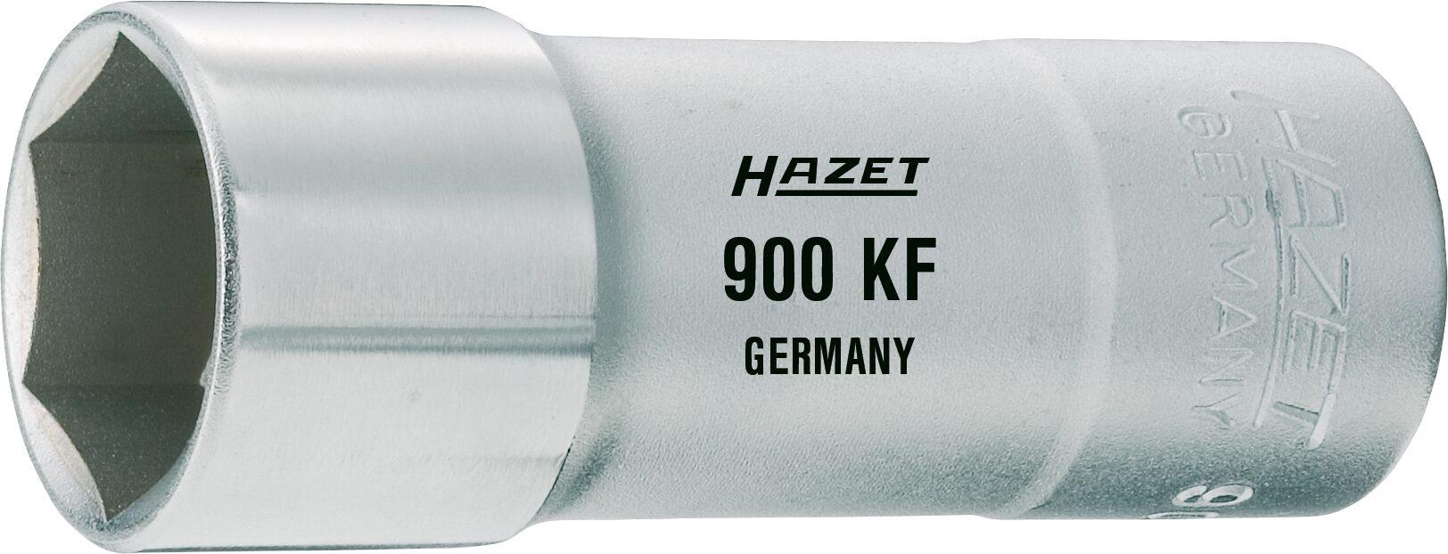 HAZET Zündkerzen Steckschlüsseleinsatz 900KF ∙ Vierkant hohl 12,5 mm (1/2 Zoll) ∙ Außen-Sechskant Profil ∙ 20.8 mm
