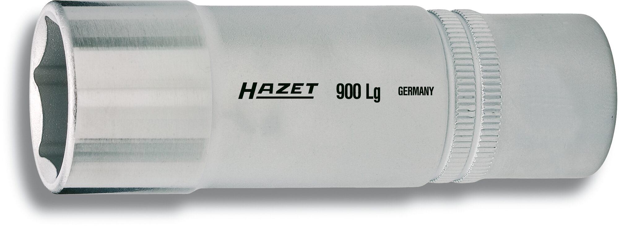HAZET Steckschlüsseleinsatz ∙ Sechskant 900LG-15 ∙ Vierkant hohl 12,5 mm (1/2 Zoll) ∙ Außen-Sechskant-Tractionsprofil