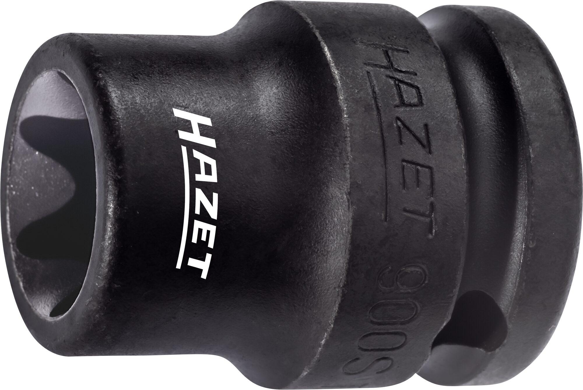 HAZET Schlag- ∙ Maschinenschrauber Steckschlüsseleinsatz ∙ TORX® 900S-E24 ∙ Vierkant hohl 12,5 mm (1/2 Zoll) ∙ E24