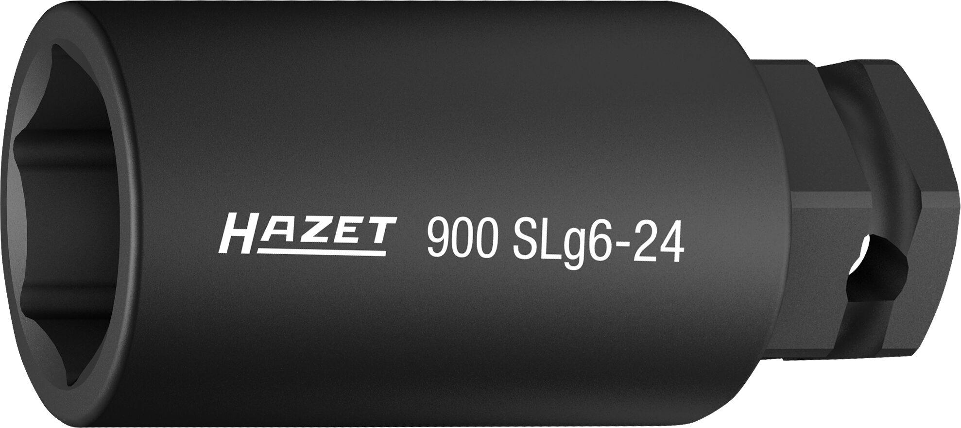 HAZET Schlag- ∙ Maschinenschrauber Steckschlüsseleinsatz ∙ Sechskant 900SLG6-24 ∙ Außen-Sechskant-Tractionsprofil