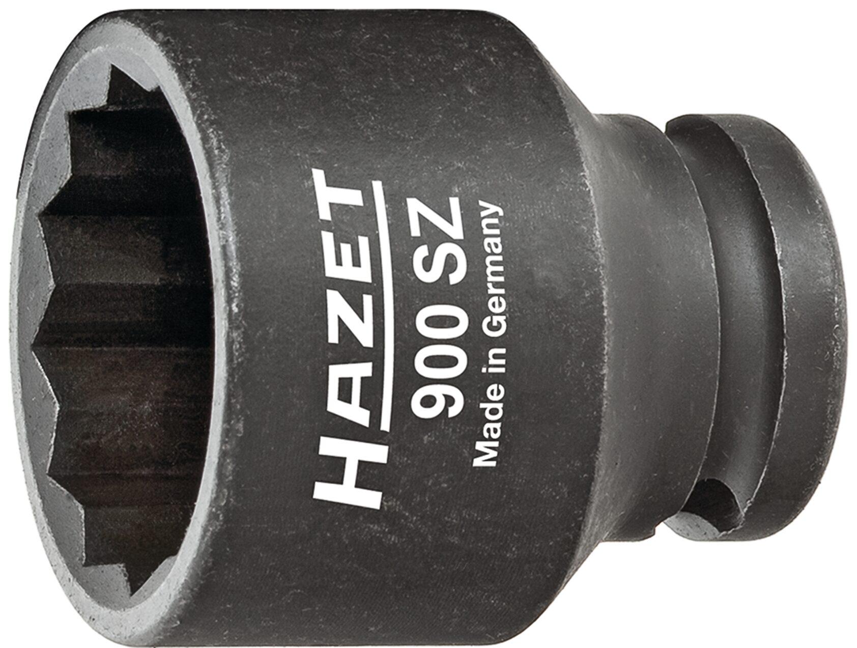 HAZET Schlag- ∙ Maschinenschrauber Steckschlüsseleinsatz ∙ Doppelsechskant 900SZ-14 ∙ Vierkant hohl 12,5 mm (1/2 Zoll)