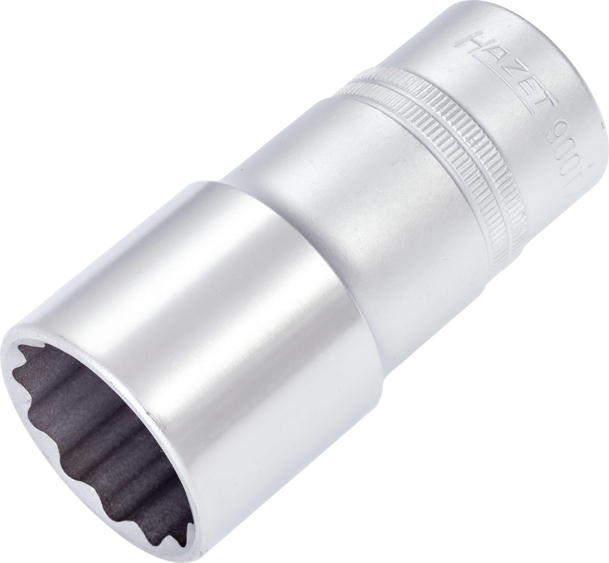 HAZET Steckschlüsseleinsatz ∙ Doppelsechskant 900TZ-30 ∙ Vierkant hohl 12,5 mm (1/2 Zoll) ∙ 30 mm