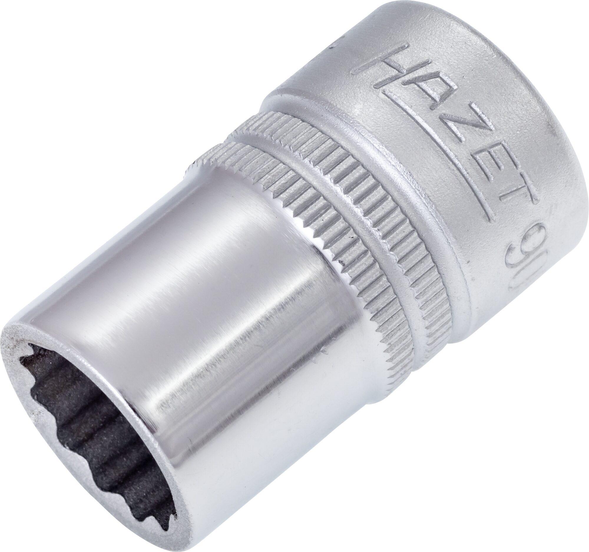 HAZET Steckschlüsseleinsatz ∙ Doppelsechskant 900Z-14 ∙ Vierkant hohl 12,5 mm (1/2 Zoll) ∙ 14 mm