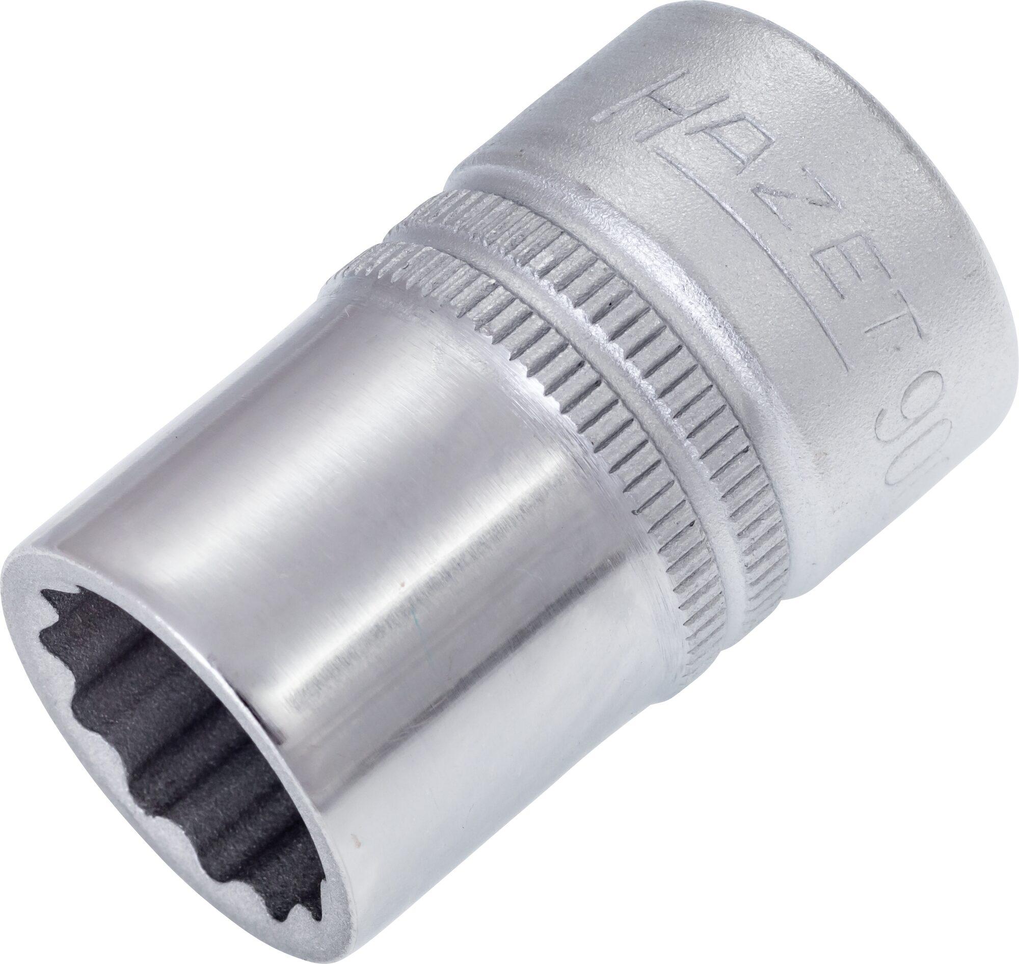 HAZET Steckschlüsseleinsatz ∙ Doppelsechskant 900Z-15 ∙ Vierkant hohl 12,5 mm (1/2 Zoll) ∙ 15 mm