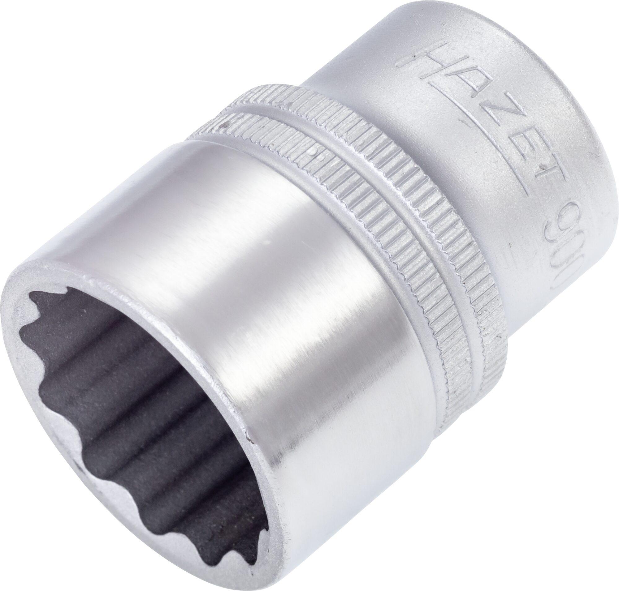 HAZET Steckschlüsseleinsatz ∙ Doppelsechskant 900Z-23 ∙ Vierkant hohl 12,5 mm (1/2 Zoll) ∙ 23 mm