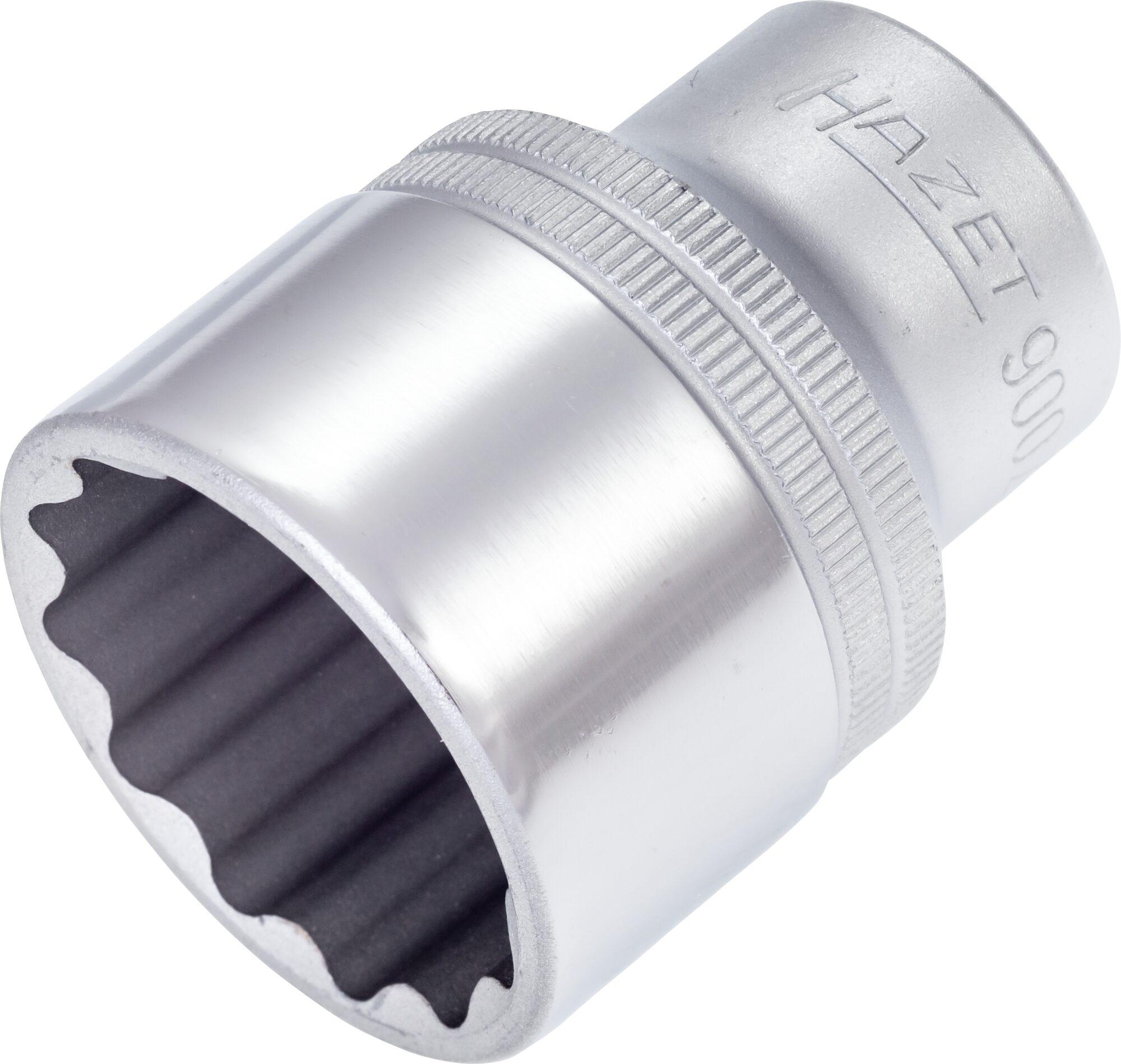 HAZET Steckschlüsseleinsatz ∙ Doppelsechskant 900Z-30 ∙ Vierkant hohl 12,5 mm (1/2 Zoll) ∙ 30 mm