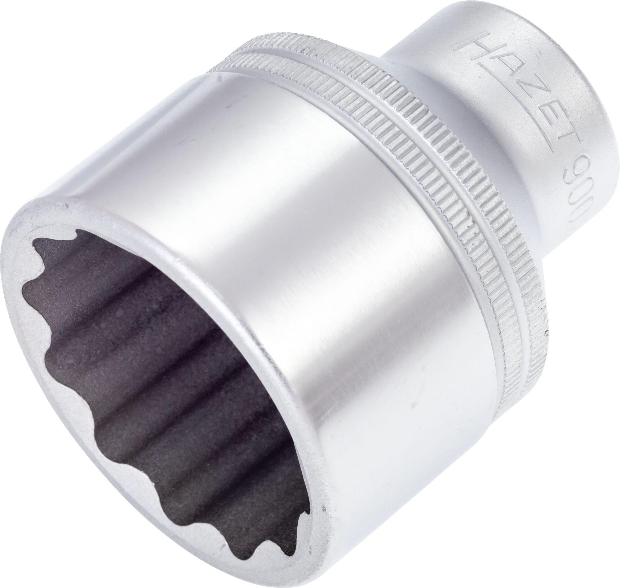 HAZET Steckschlüsseleinsatz ∙ Doppelsechskant 900Z-36 ∙ Vierkant hohl 12,5 mm (1/2 Zoll) ∙ 36 mm