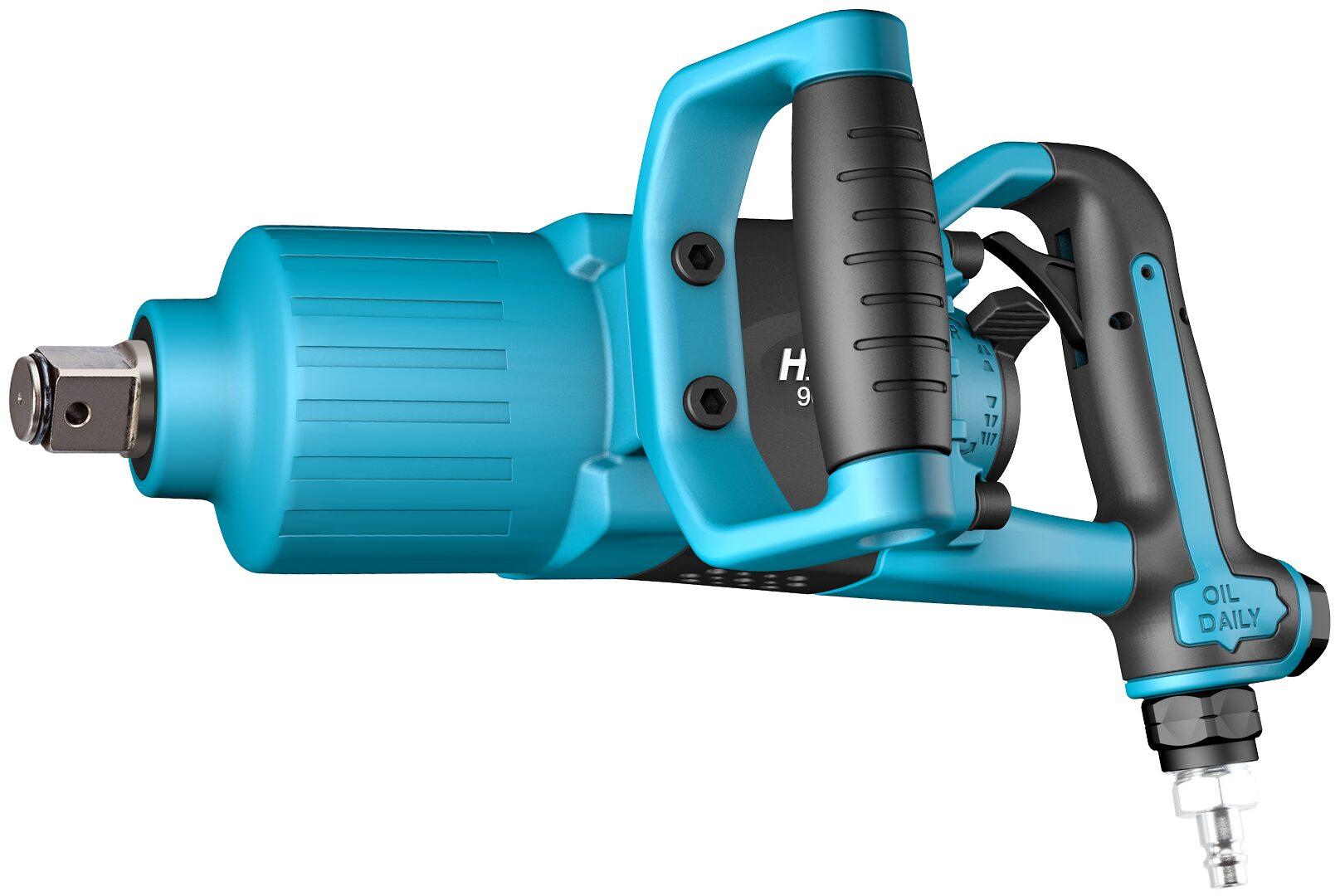 HAZET Schlagschrauber 9014PS-1 ∙ Lösemoment maximal: 3400 Nm ∙ Vierkant massiv 25 mm (1 Zoll) ∙ Direkthammer-Schlagwerk