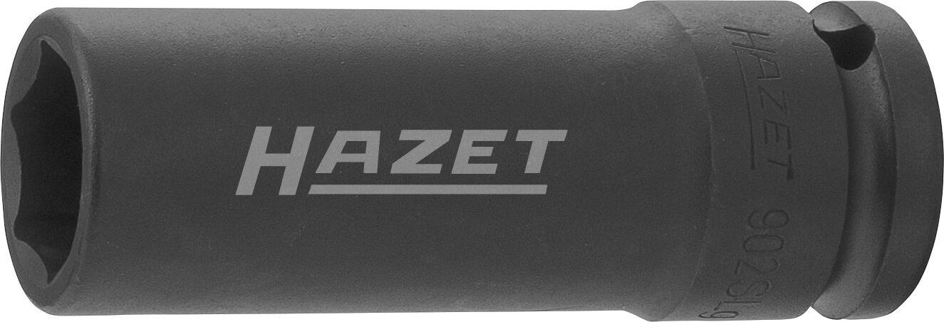 HAZET Schlag- ∙ Maschinenschrauber Steckschlüsseleinsatz ∙ Sechskant 902SLG-19 ∙ Vierkant hohl 12,5 mm (1/2 Zoll)