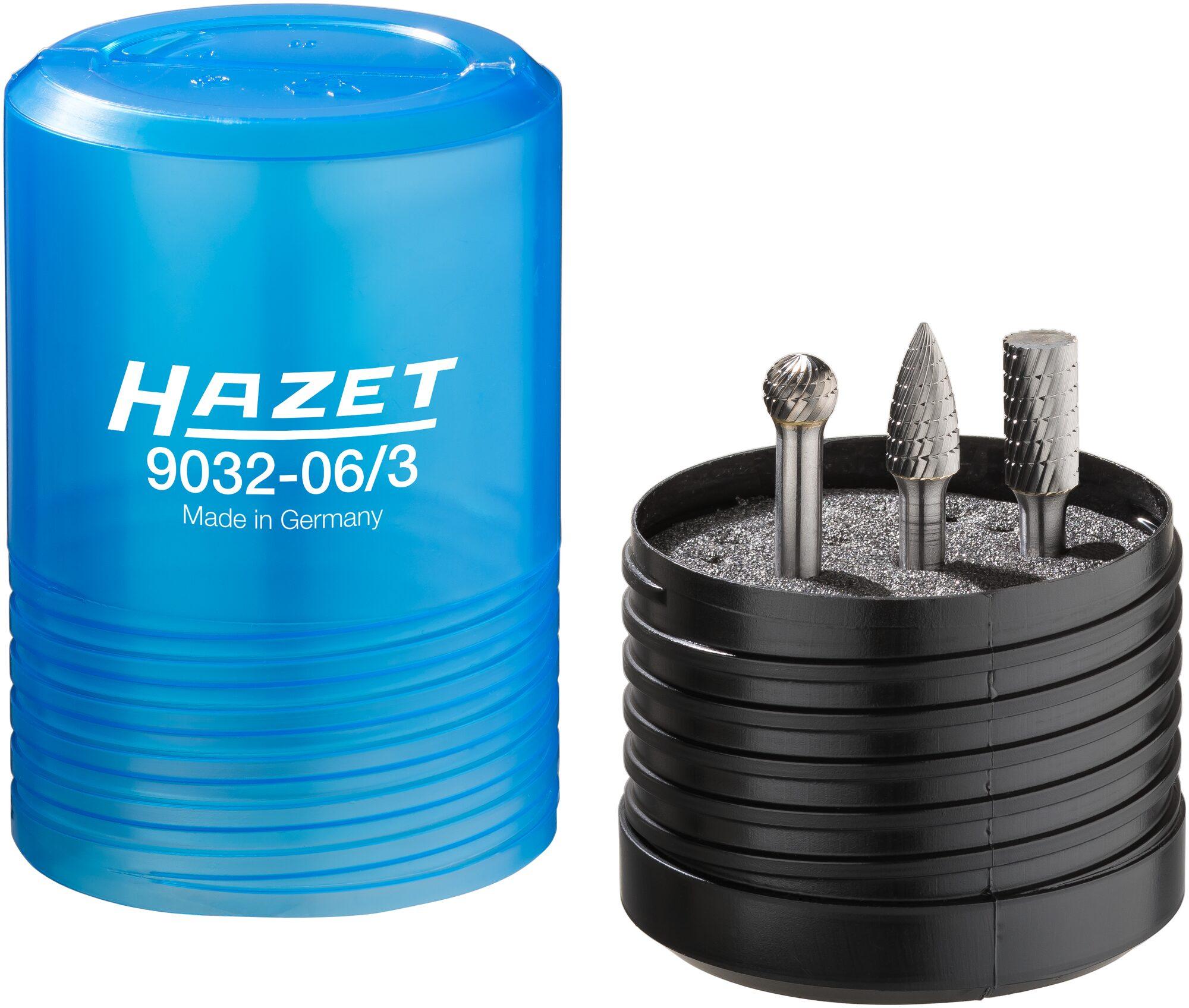 HAZET Hartmetall Frässtift Satz ∙ 6mm 9032-06/3 ∙ Anzahl Werkzeuge: 3