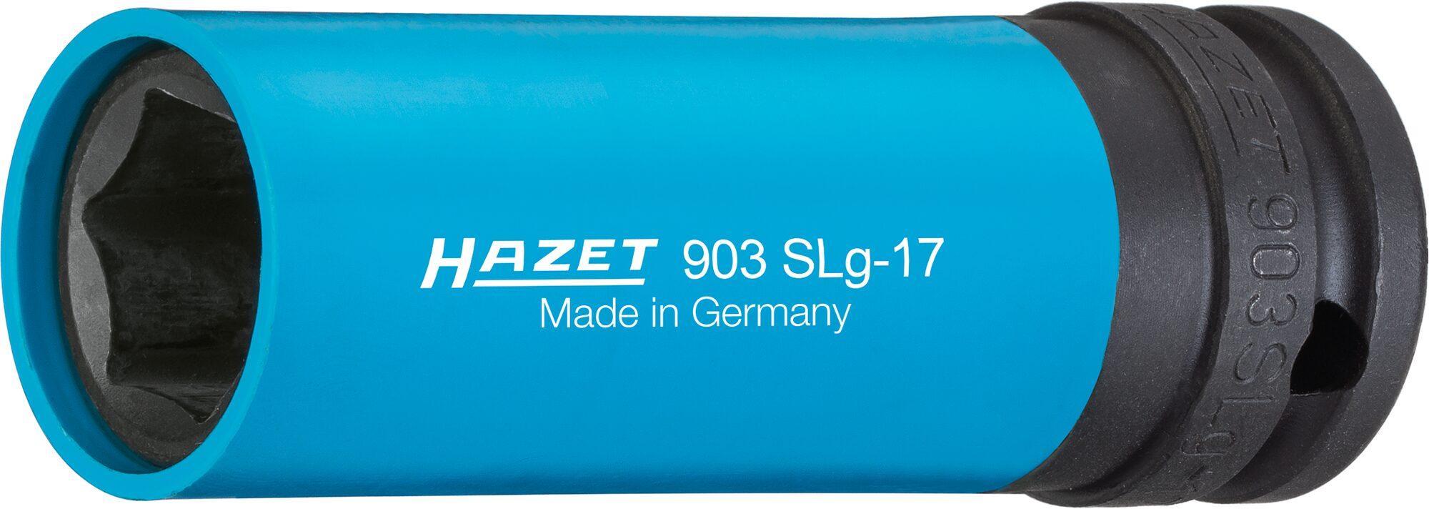 HAZET Schlag- ∙ Maschinenschrauber Steckschlüsseleinsatz ∙ Sechskant 903SLG-17 ∙ Vierkant hohl 12,5 mm (1/2 Zoll)
