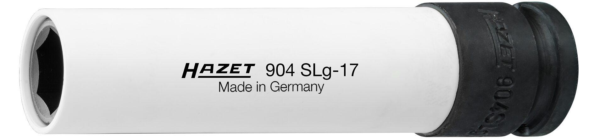 HAZET Schlag- ∙ Maschinenschrauber Steckschlüsseleinsatz ∙ Sechskant ∙ extra lang 904SLG-17 ∙ 17 mm