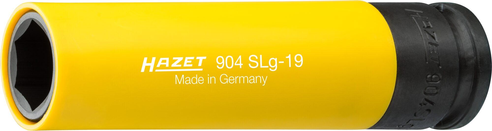 HAZET Schlag- ∙ Maschinenschrauber Steckschlüsseleinsatz ∙ Sechskant ∙ extra lang 904SLG-19 ∙ 19 mm