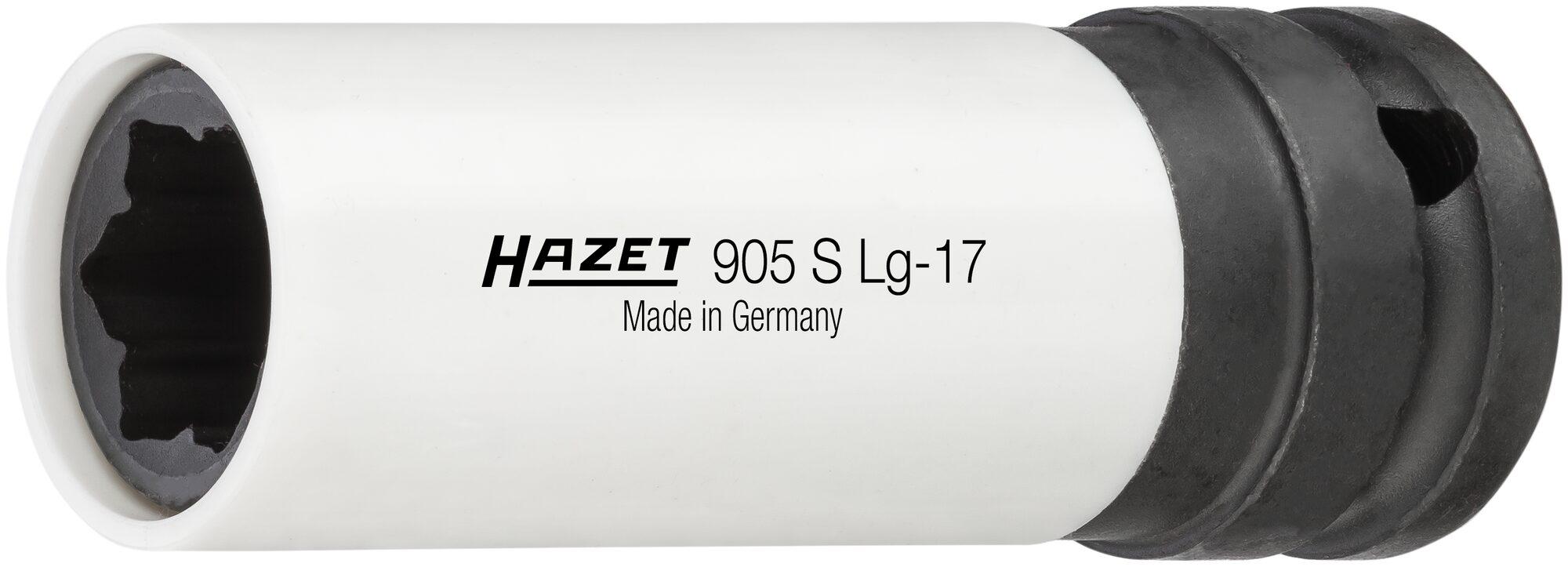 HAZET Schlag-, Maschinenschrauber Steckschlüsseleinsatz ∙ Hybrid-Sonderprofil 905SLG-17 ∙ 17 mm