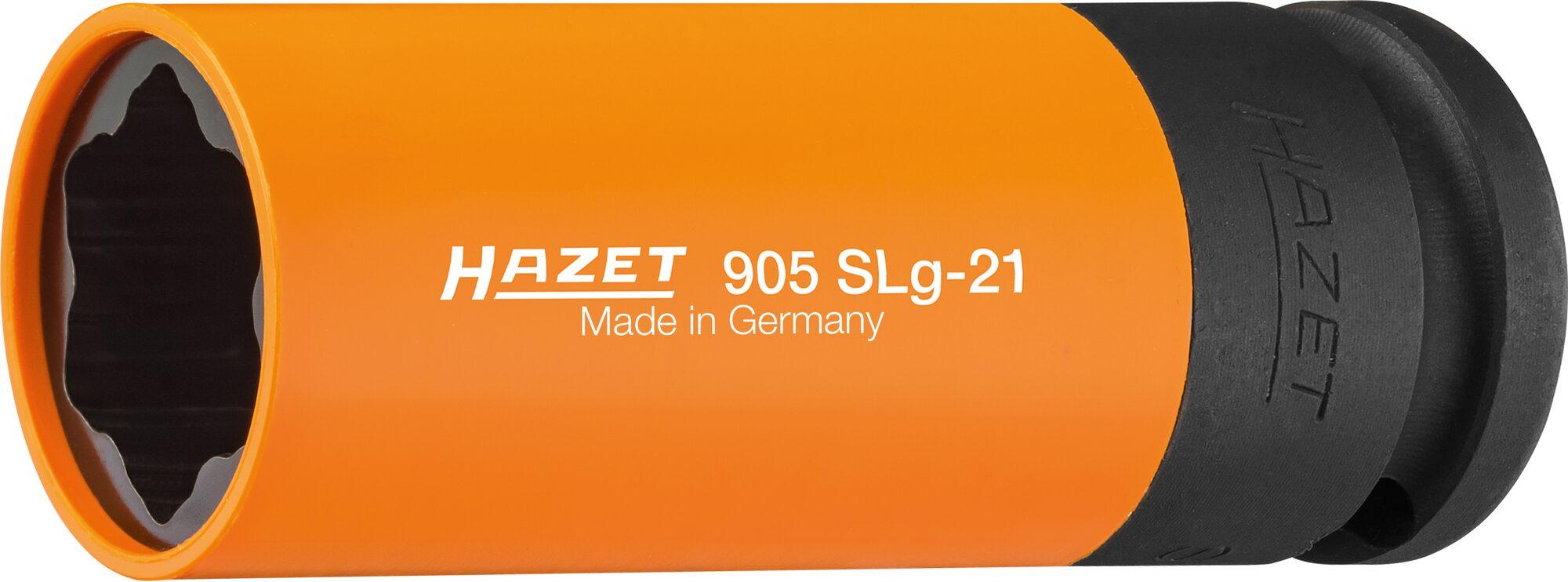 HAZET Schlag-, Maschinenschrauber Steckschlüsseleinsatz ∙ Sonderprofil 905SLG-21 ∙ Vierkant hohl 12,5 mm (1/2 Zoll)