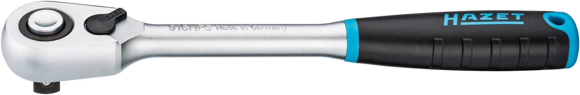 HAZET HiPer Feinzahn-Umschaltknarre 916HPS ∙ Vierkant massiv 12,5 mm (1/2 Zoll)