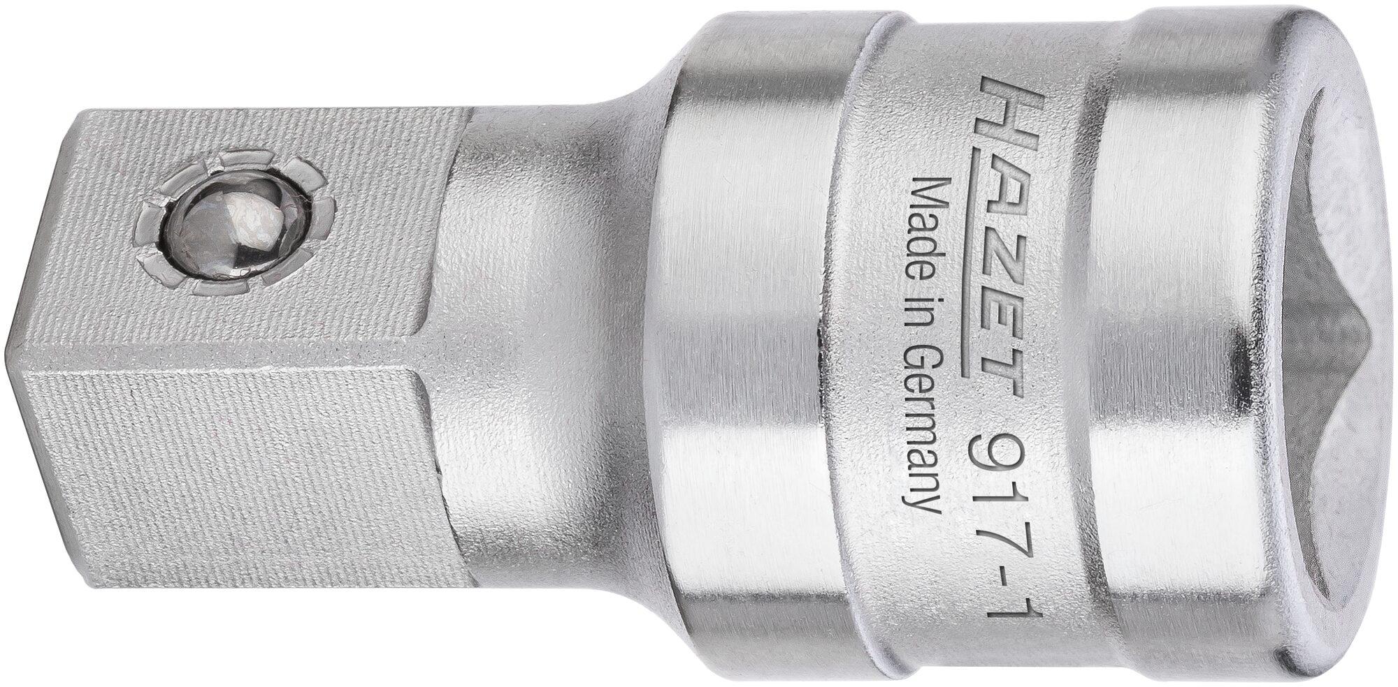 HAZET Verlängerung 917-1 ∙ Vierkant hohl 12,5 mm (1/2 Zoll) ∙ Vierkant massiv 12,5 mm (1/2 Zoll)