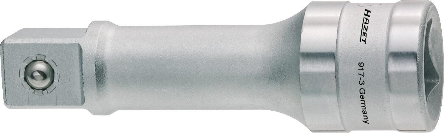 HAZET Verlängerung 917-3 ∙ Vierkant hohl 12,5 mm (1/2 Zoll) ∙ Vierkant massiv 12,5 mm (1/2 Zoll)