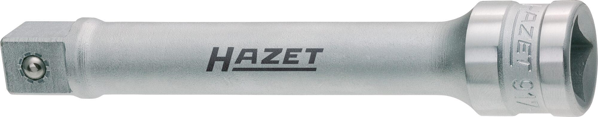 HAZET Verlängerung 917-5 ∙ Vierkant hohl 12,5 mm (1/2 Zoll) ∙ Vierkant massiv 12,5 mm (1/2 Zoll)