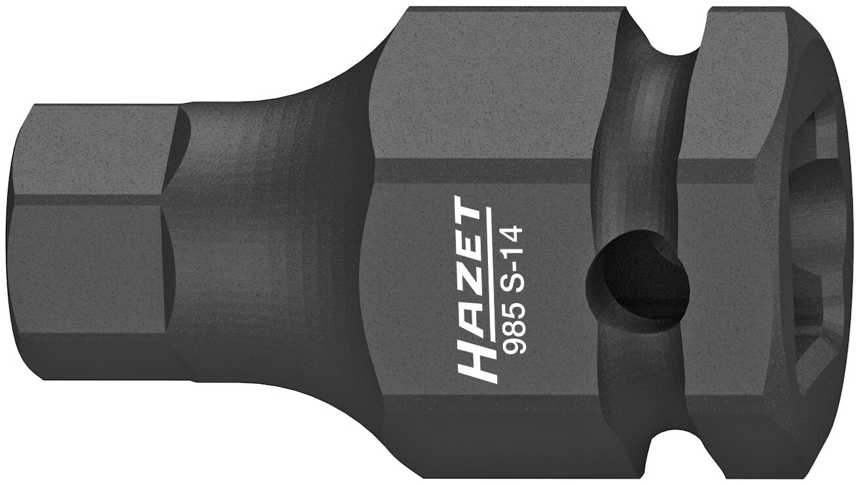 HAZET Schlag- ∙ Maschinenschrauber Schraubendreher-Steckschlüsseleinsatz 985S-14 ∙ Vierkant hohl 12,5 mm (1/2 Zoll)