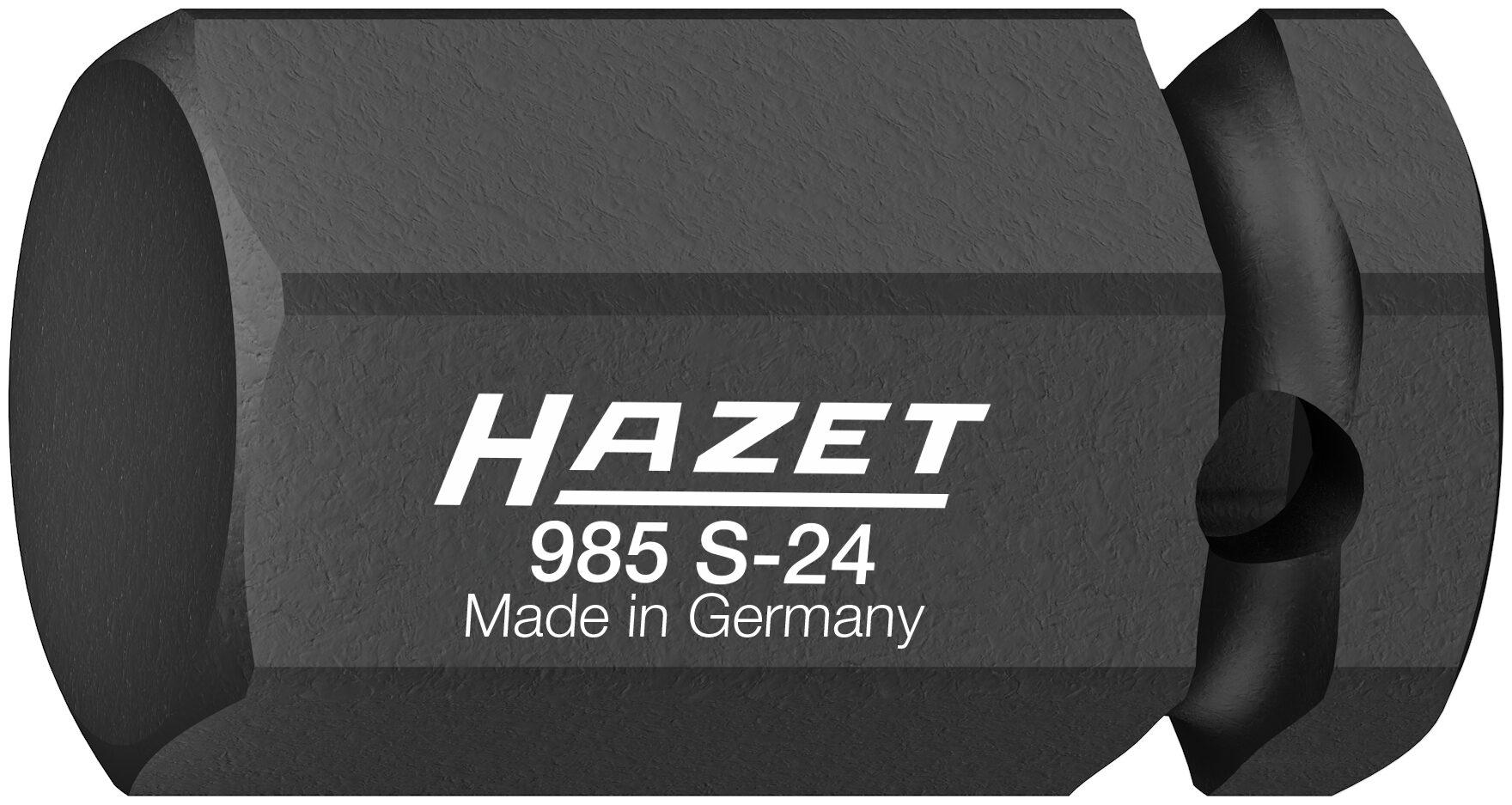 HAZET Schlag- ∙ Maschinenschrauber Schraubendreher-Steckschlüsseleinsatz 985S-24 ∙ Vierkant hohl 12,5 mm (1/2 Zoll)