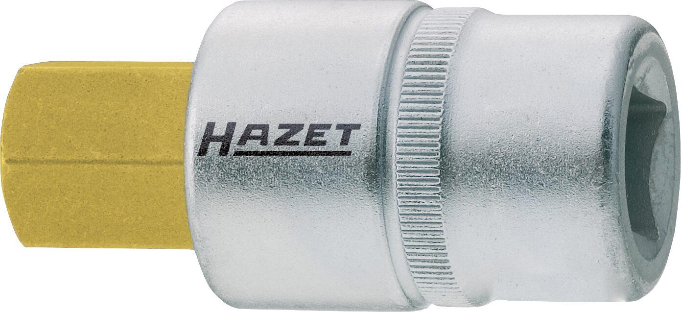 HAZET Schraubendreher-Steckschlüsseleinsatz 986-8 ∙ Vierkant hohl 12,5 mm (1/2 Zoll) ∙ Innen-Sechskant Profil ∙ 8 mm