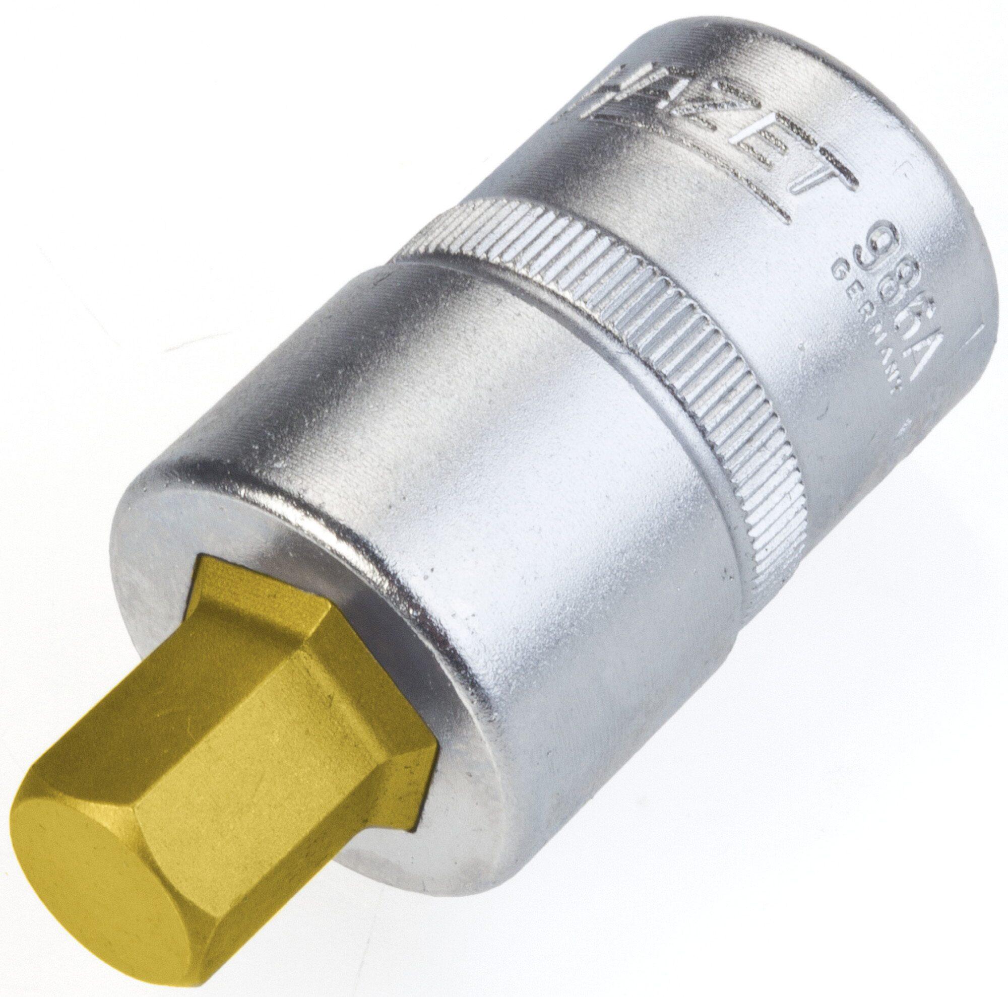 HAZET Schraubendreher-Steckschlüsseleinsatz 986A-7/16 ∙ Vierkant hohl 12,5 mm (1/2 Zoll) ∙ Innen-Sechskant Profil