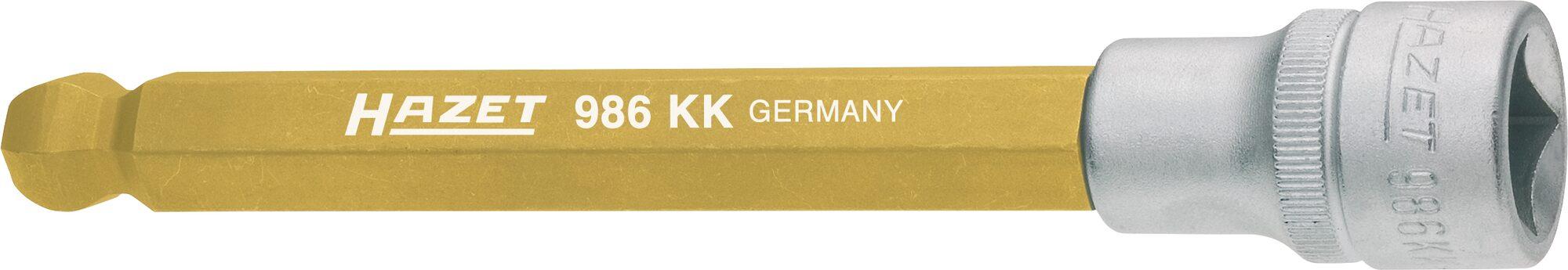 HAZET Schraubendreher-Steckschlüsseleinsatz 986KK-8 ∙ Vierkant hohl 12,5 mm (1/2 Zoll) ∙ Innen-Sechskant Profil ∙ 8 mm