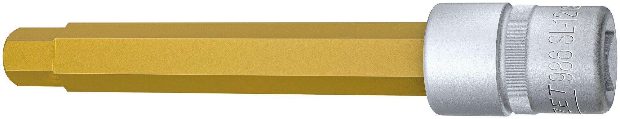 HAZET Schraubendreher-Steckschlüsseleinsatz 986SL-12 ∙ Vierkant hohl 12,5 mm (1/2 Zoll) ∙ Innen-Sechskant Profil ∙ 12 mm