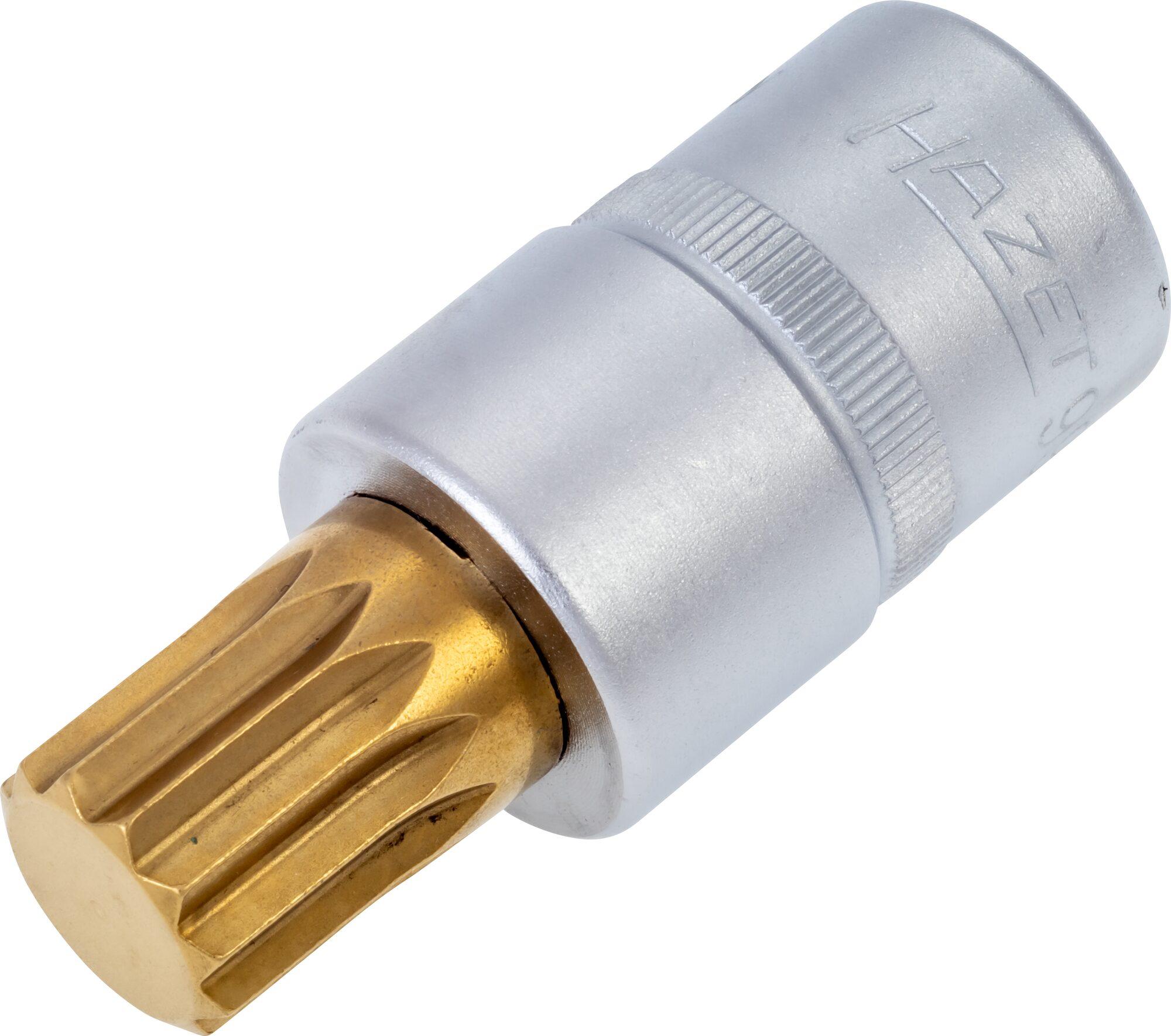 HAZET Schraubendreher-Steckschlüsseleinsatz 990-16 ∙ Vierkant hohl 12,5 mm (1/2 Zoll) ∙ Innen Vielzahn Profil XZN ∙ M16