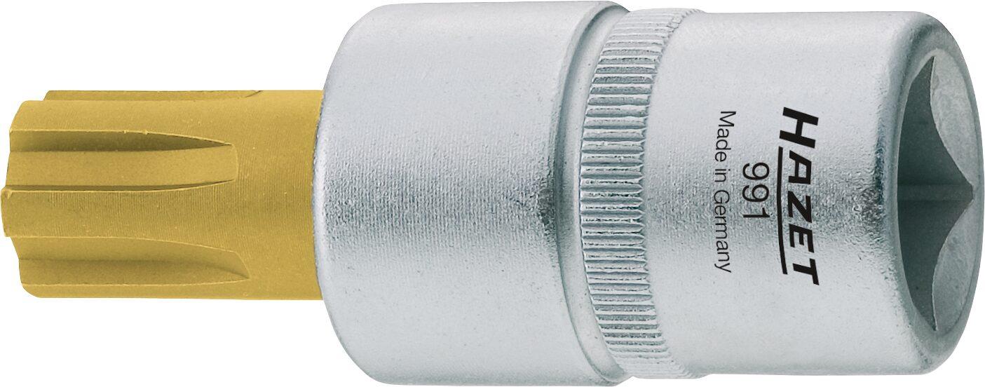 HAZET Schraubendreher-Steckschlüsseleinsatz 991-14 ∙ Vierkant hohl 12,5 mm (1/2 Zoll) ∙ Innen Keilprofil Ribe-CV ∙ M14