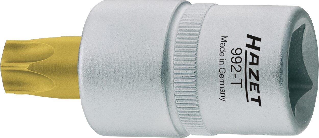 HAZET Schraubendreher-Steckschlüsseleinsatz TORX® 992-T55H ∙ Vierkant hohl 12,5 mm (1/2 Zoll) ∙ T55H