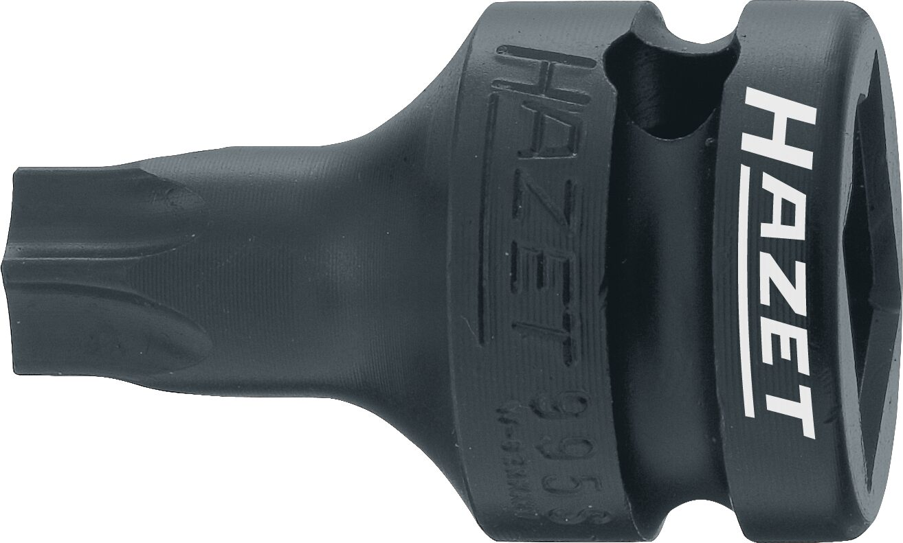 HAZET Schlag- ∙ Maschinenschrauber Schraubendreher-Steckschlüsseleinsatz ∙ TORX® 995S-T60 ∙ Innen TORX® Profil ∙ T60