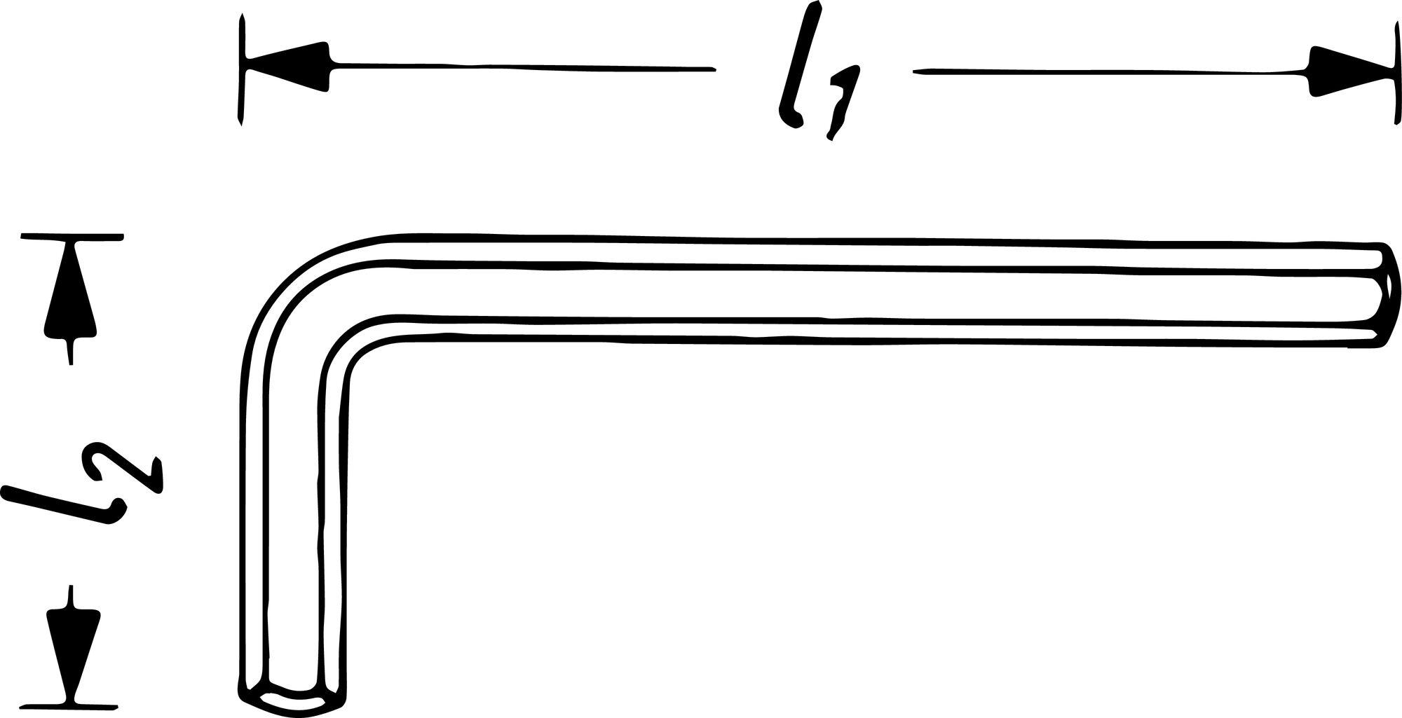 HAZET Winkelschraubendreher 2100A-1/4 ∙ Innen-Sechskant Profil ∙ 1⁄4 ″