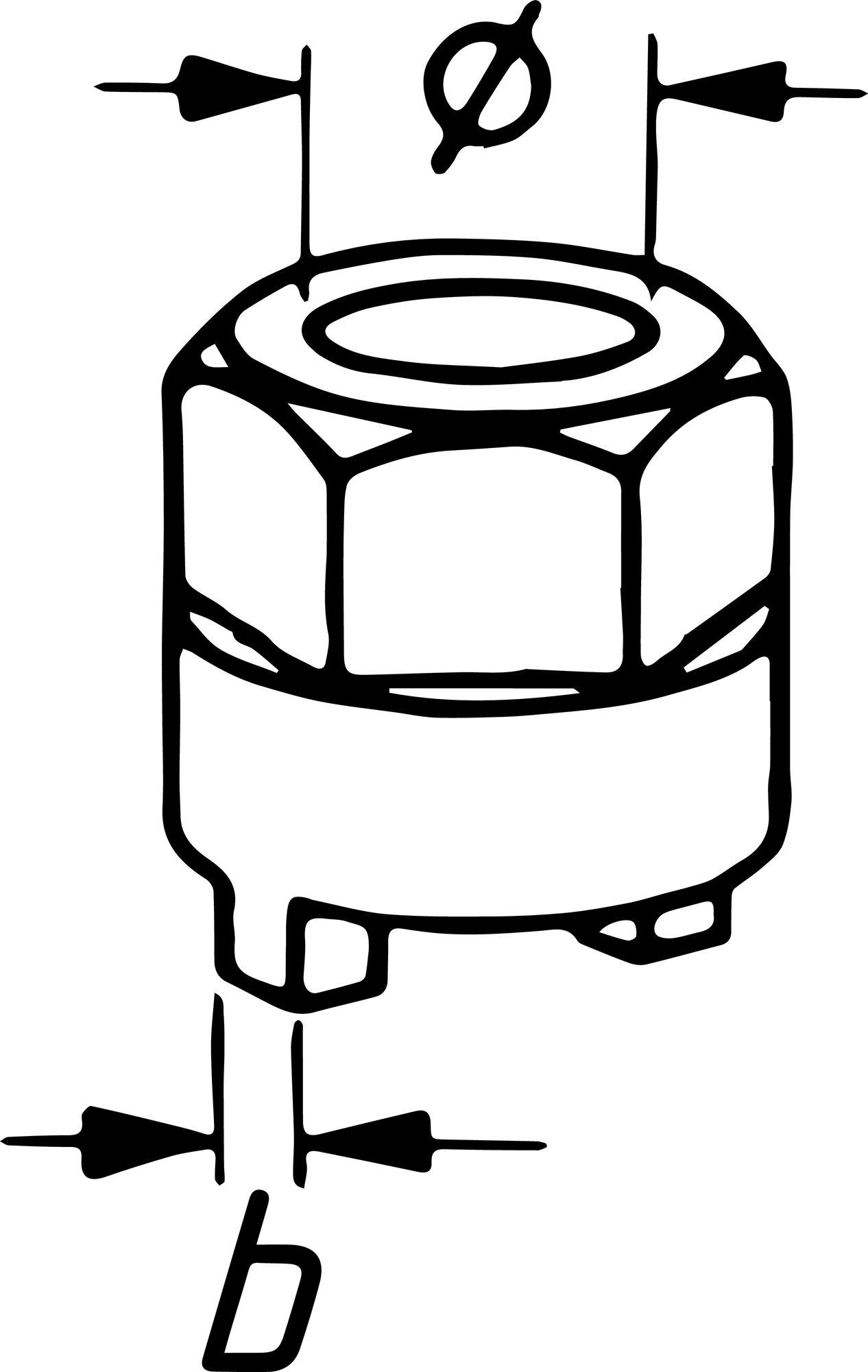 HAZET Stoßdämpfer-Zapfenschlüssel 2780-1 ∙ 14.1 mm