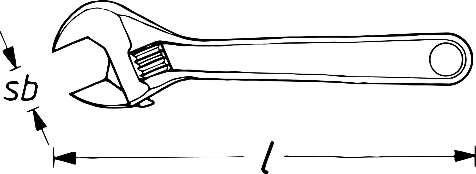 HAZET Einmaulschlüssel ∙ verstellbar 279-12 ∙ Außen-Sechskant Profil